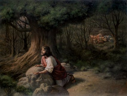 Sympathetic savior christ s relationships freedom from medom project Jesus praying in the garden of gethsemane